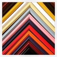 Brightly coloured slips