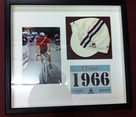 Cycling cap framed