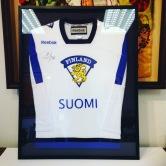 American football shirt framed