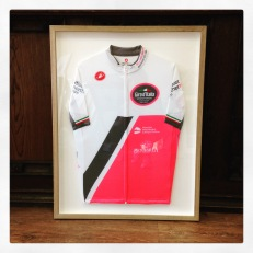 Cycling shirts framed