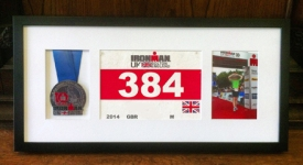 Triathlon, Race medal framing