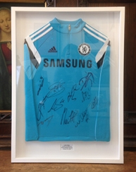 Long sleeved framed sports shirt