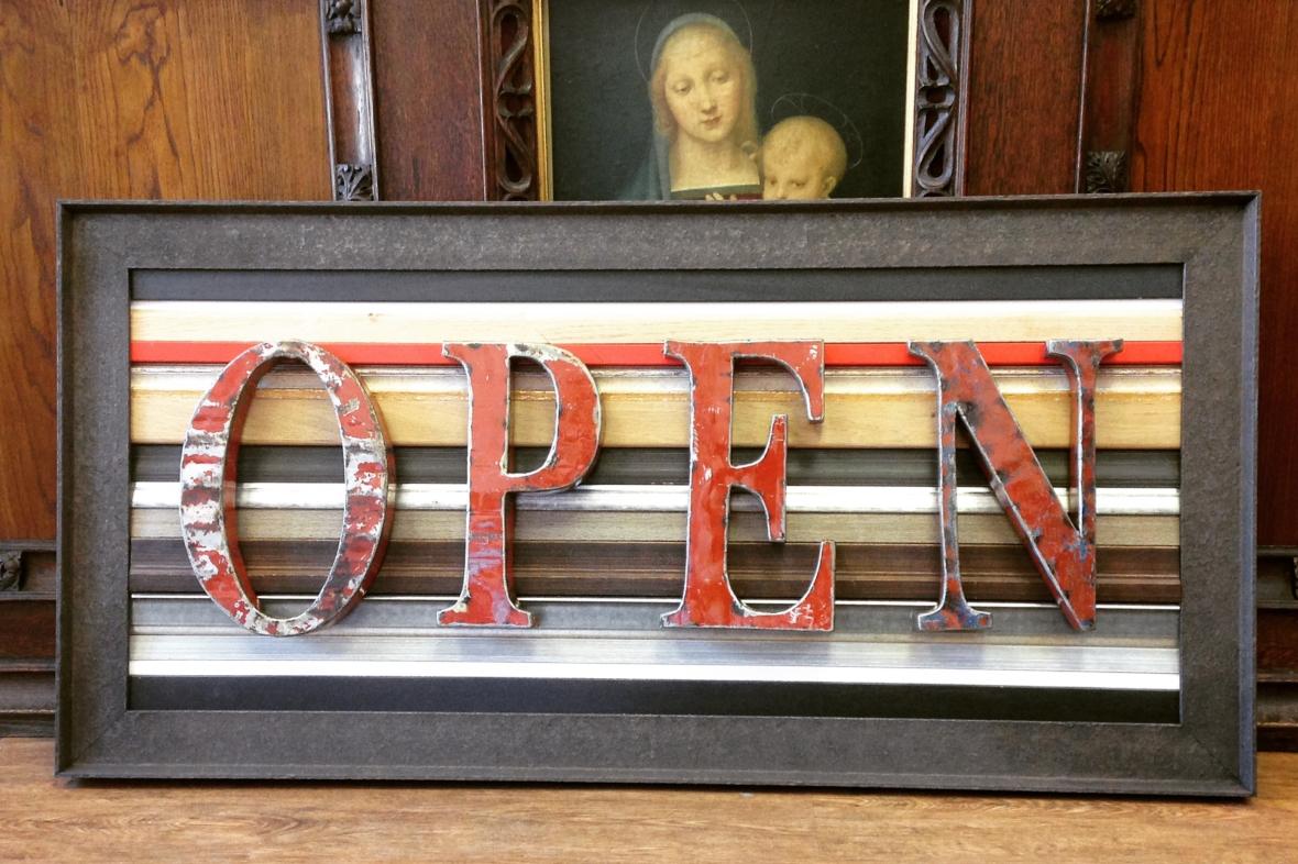 open for framing