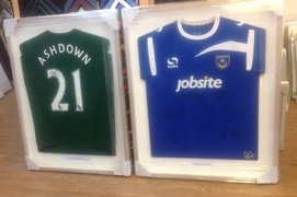 football shirts framed and ready to go