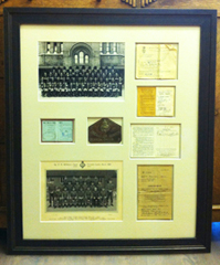 War memoribilia framed