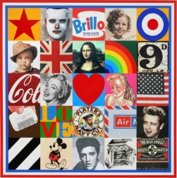 Sources of Pop 7 diamond dust 2009 by Sir Peter Blake