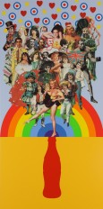 Summer Days signed limited edition silkscreen print by Sir Peter Blake the Godfather of Pop Art. Sir 2007