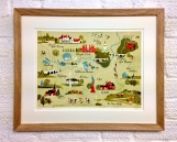 Cycle Surrey map – a signed limited edition of 100 silk screen available mounted.
