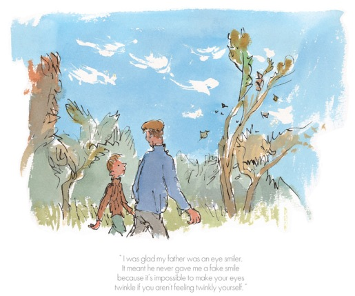 Roald Dahl - I was glad my father was an eye smiler - Danny champion of the world - Collectors Edition Print
