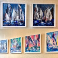 Susan Bown original Saling Boats
