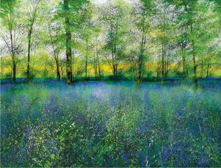 Scent of Bluebells Mounted: 970mm x 810mm
