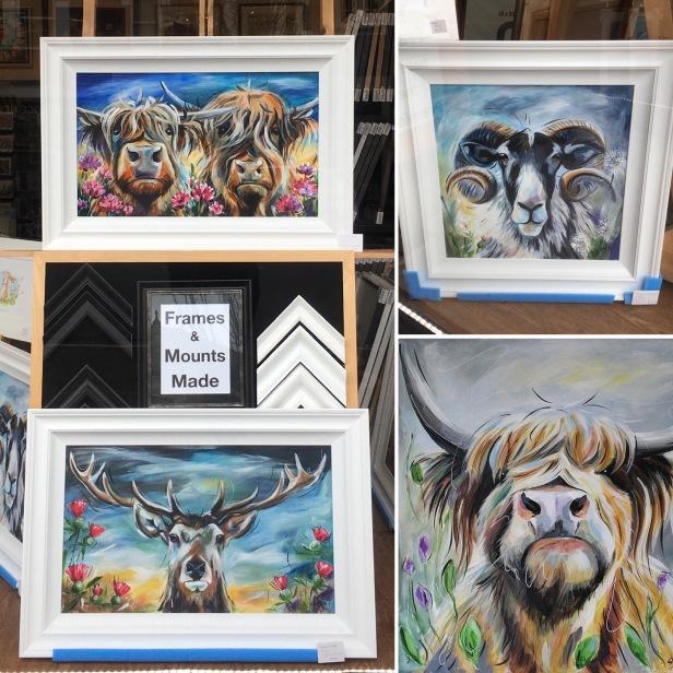 Susan B Leigh original framed art